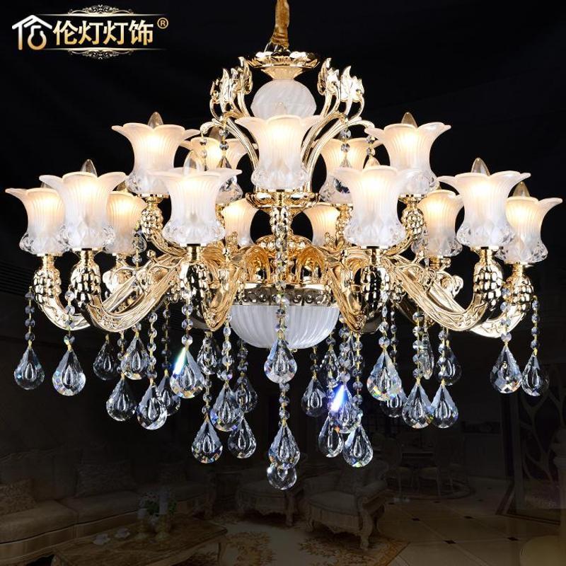 伦灯欧式水晶吊灯 创意客厅发光水晶吊灯奢华大气水晶吊灯88098