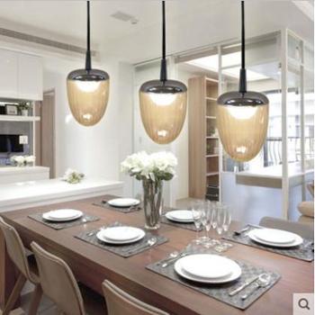 沃奥宜家LED餐厅吊灯简约书房吊灯单头吊灯创意水晶吊灯