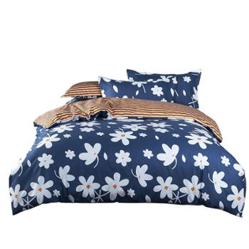 伊伊爱鲁迪时尚印花英伦系列四件套床上用品