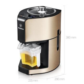 西屋(Westinghouse) 美国KP0202全自动家用小型榨油机冷热双榨商用智能款 香槟金