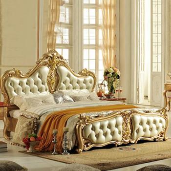 逸邦全实木家具 欧式实木床 奢华公主床 纯手工雕刻双人床