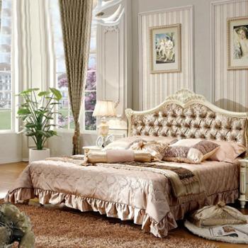 逸邦家具奢华法式床全实木床 欧式床创意家具 1.5米1.8双人床