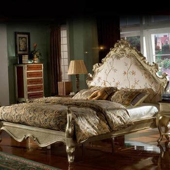 逸邦全实木家具 欧式床奢华全实木床法式床卧室双人床 1.8米木质床