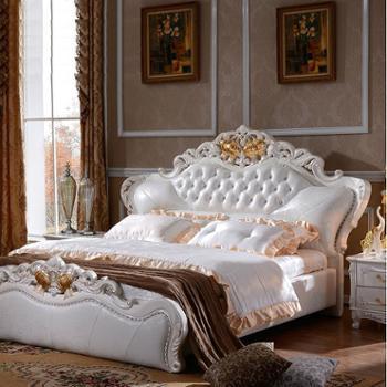 逸邦 全实木家具欧式床 奢华全实木床法式床卧室双人床 1.8米大床