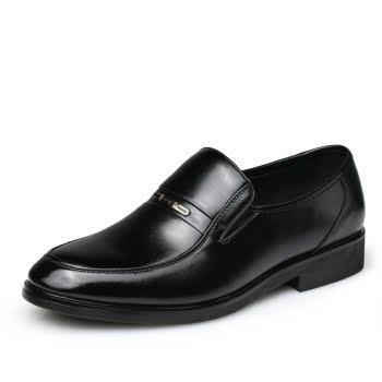 米斯康男士皮鞋软皮男鞋商务正装皮鞋透气软面皮鞋休闲鞋婚鞋6655