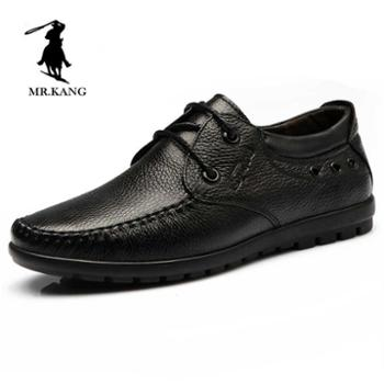 米斯康英伦休闲鞋男鞋秋季新款男士鞋休闲皮鞋男真皮男鞋头层牛皮6081