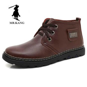 米斯康冬季保暖男鞋潮流英伦加绒男士棉鞋商务休闲高帮鞋子861