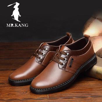 米斯康男鞋男士商务休闲鞋正装皮鞋英伦牛皮鞋系带鞋男单鞋981-2