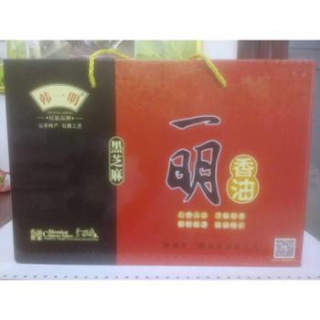 韩一明 (黑芝麻)香油礼盒180ml*4瓶