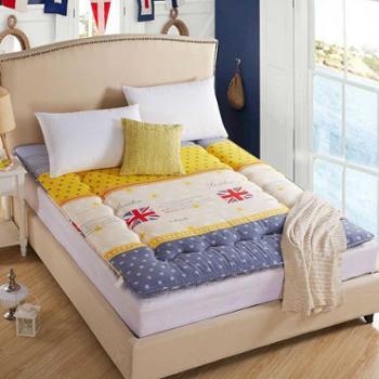 羽芯家纺 磨毛印花床垫 超柔软单双人垫被 榻榻米床褥床垫子 床上用品家纺 1502