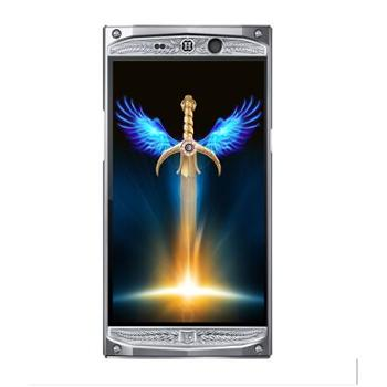 HANMAC海恩迈骑士星座手机蜥蜴皮移动4G联通4G双卡双待银色