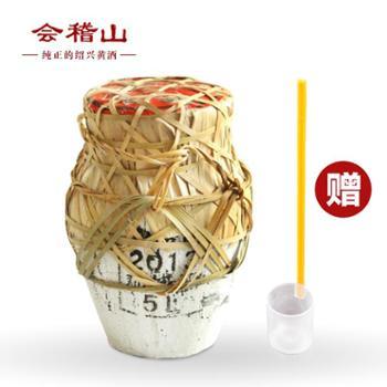 会稽山绍兴黄酒穿络坛装加饭酒10斤半干型石膏头糯米黄酒5L