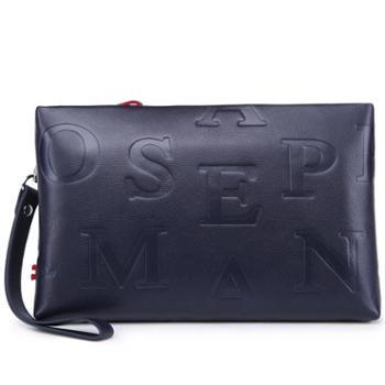 卓梵 阿玛尼男士手拿包大容量真皮手包男牛皮商务休闲夹包