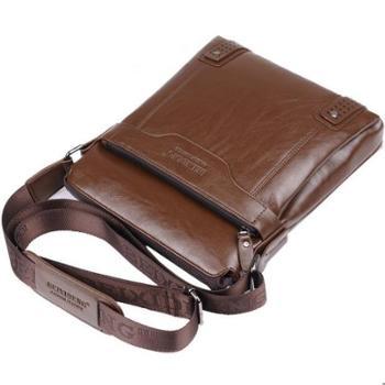 【支持通用券与积分】男包男士单肩包男士斜挎包男士商务包休闲包公文包皮包潮流背包竖款包