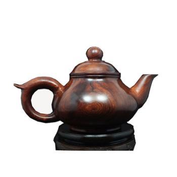 海南黄花梨 油梨老料龙筋纹茶壶 编号C123
