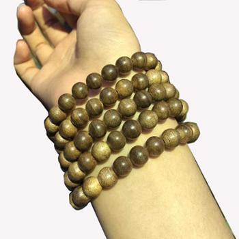 天然沉香佛珠手串0.8CM108颗多层手链木质珠子男女款