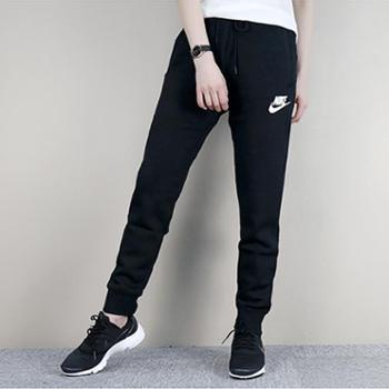 耐克女裤针织保暖运动休闲针织小脚长裤894851-010SH