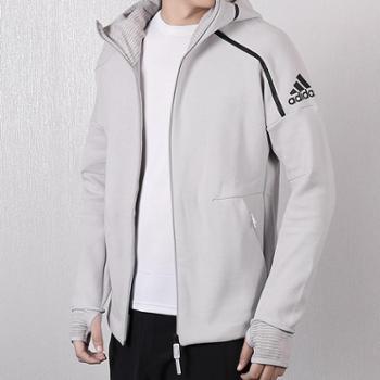 Adidas阿迪达斯男装上衣新款连帽保暖休闲运动夹克外套BQ0074SF