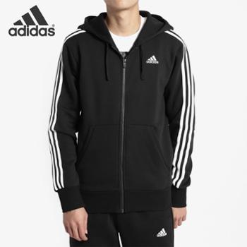 Adidas阿迪达斯男装新款运动夹克针织连帽休闲外套B47368SF