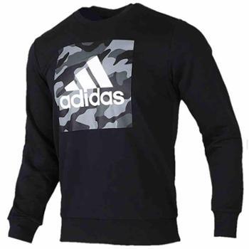 Adidas阿迪达斯男女秋季新款运动服迷彩宽松圆领长袖套头衫FJ0240-S