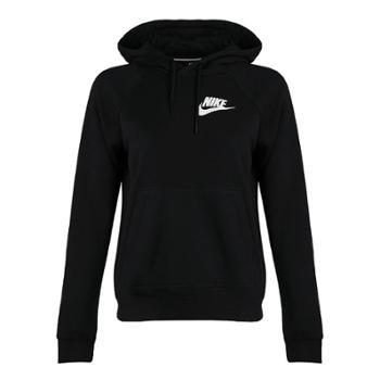 Nike耐克女加绒加厚连帽保暖运动卫衣套头衫AJ6316-010-S