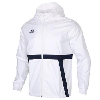 阿迪达斯adidas男装梭织防风运动服连帽夹克外套FM0863
