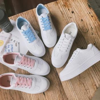 小白鞋女2018韩版百搭透气平底单鞋学生板鞋夏女鞋子
