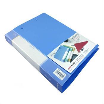 得力5342双强力夹 A4双夹文件夹 背宽18m 质量厚 得力办公用品