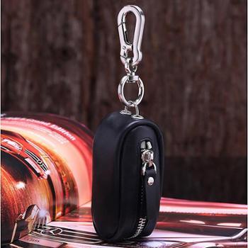 铁斯盾时尚磨砂真皮零钱包情侣系列男女士钥匙包零钱包杂物包大开口拉链小包