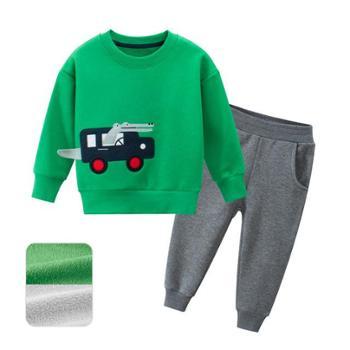 27kids品牌童装儿童套装男童卫衣裤子运动款两件套