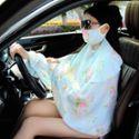 夏季多功能骑车防晒披肩两用女开车防紫外线护颈口罩雪纺丝巾