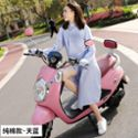 夏季女士薄款电动车骑行防晒衣中长款条纹棉防紫外线外套