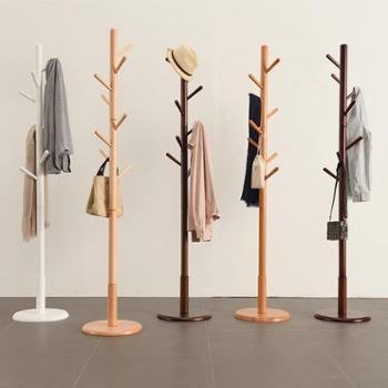 (生活用品衣架)家逸衣帽架实木落地创意挂衣架客厅简约衣架时尚衣服架