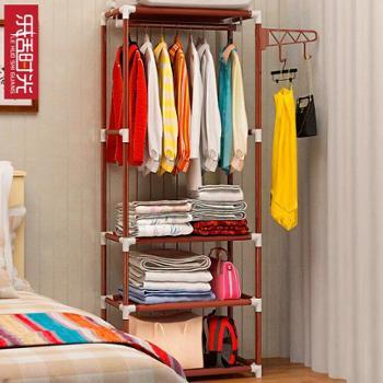 (生活用品衣帽架)简易衣帽架落地挂衣架创意衣服架卧室置物架门厅收纳铁艺衣架移动