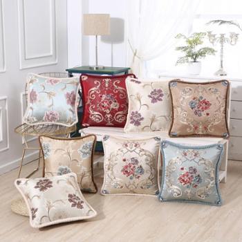 欧式沙发靠垫抱枕午休枕礼品供应刺绣花卉车用软垫