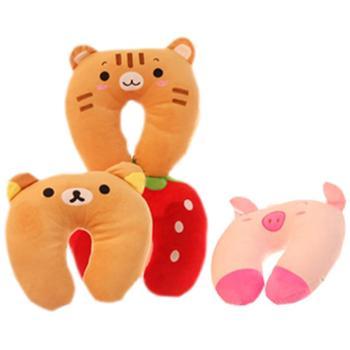 卡通动物U型护颈枕毛绒玩具