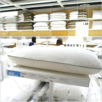 宜家赫斯特天然乳胶枕高枕保健枕头45x70快速回弹