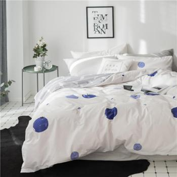 新款春夏印花全棉四件套活性卡通花卉水果纯棉床上用品