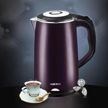 AUX/奥克斯电水壶 HX-A6126电热水壶304不锈钢双层保温家用电水壶自动断烧水壶