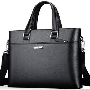 男士公文包商务男包头层牛皮男士手提包单肩斜挎包笔记本电脑包