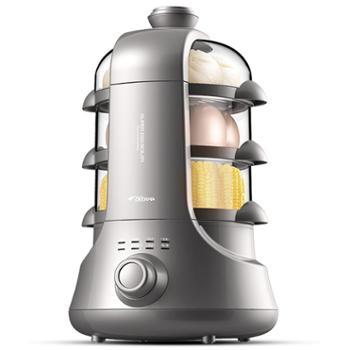 德尔玛(Deerma)多功能四层大容量煮蛋器自动断电蒸蛋