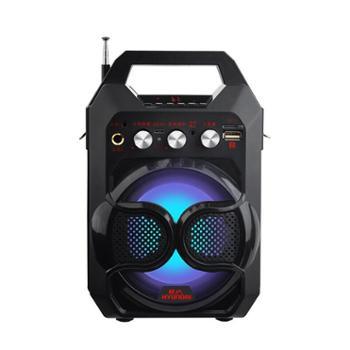 现代插卡收音机超市收款提醒大功率户外广场舞音响无线便携蓝牙音箱低音炮迷你手提拉杆音箱