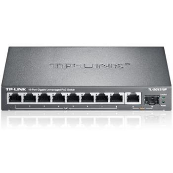 TP-LINK以太网交换机8口千兆POE交换机1千兆口+1千兆光纤口