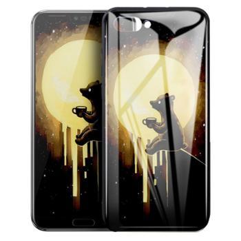 美逸 荣耀10 手机保护壳 时尚高端背板梦幻系列钢化玻璃9H