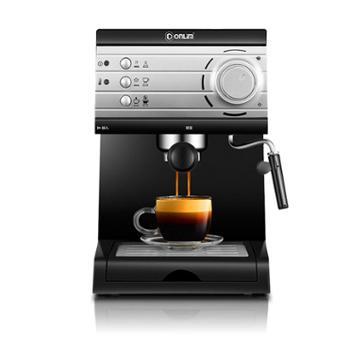 Donlim/东菱咖啡机DL-KF6001咖啡机家用小型意式半全自动蒸汽式打奶泡