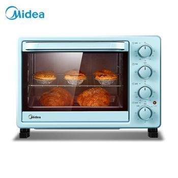 Midea/美的烤箱家用烘焙迷你小型电烤箱多功能全自动蛋糕25升大容量