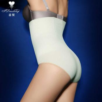 迪粲女士产后束腹无缝三角收腹内裤瘦身裤超高腰收胃提臀塑身裤
