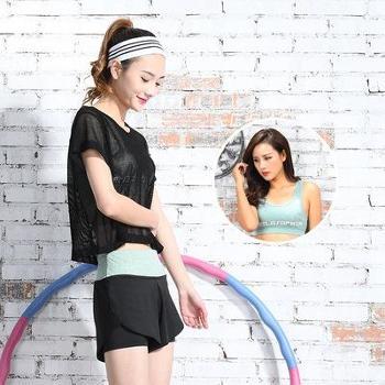 夏季新款瑜伽服三件套显瘦高腰短裤套装网纱罩衫运动服女运动套装