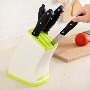 (厨房工具)家用多功能塑料菜刀架刀具架厨房刀具收纳架插刀置物架刀座刀架子