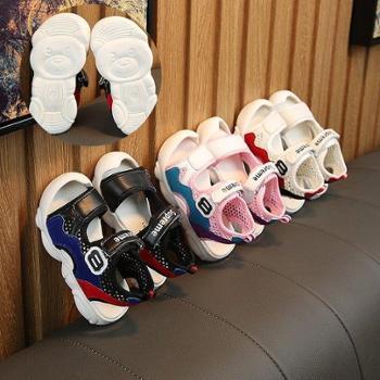 jugo儿童凉鞋韩版男童凉鞋女童露趾卡通凉鞋小熊底防滑潮